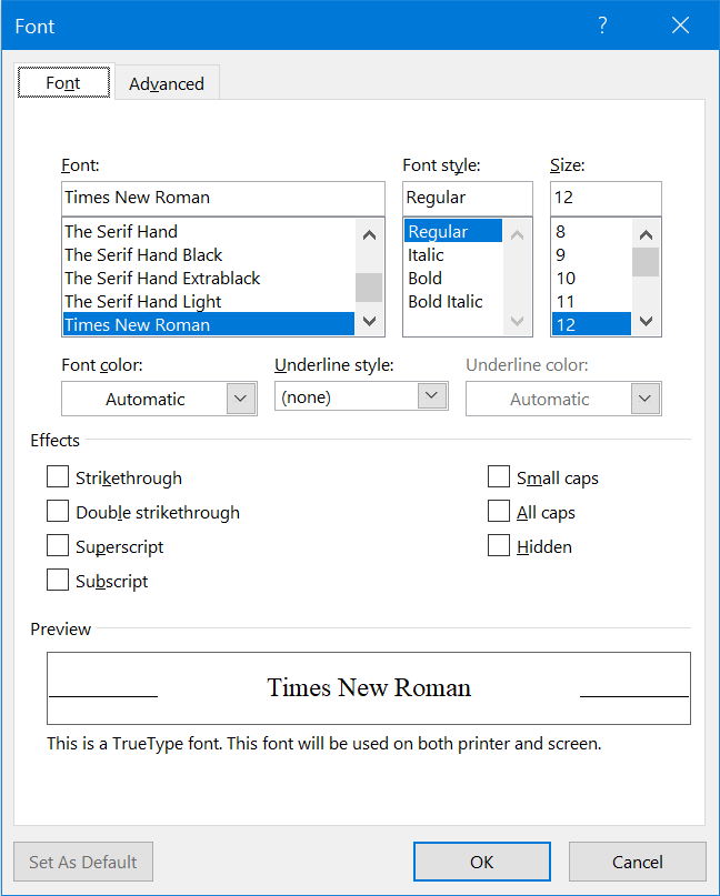 Format font properties in the style you want